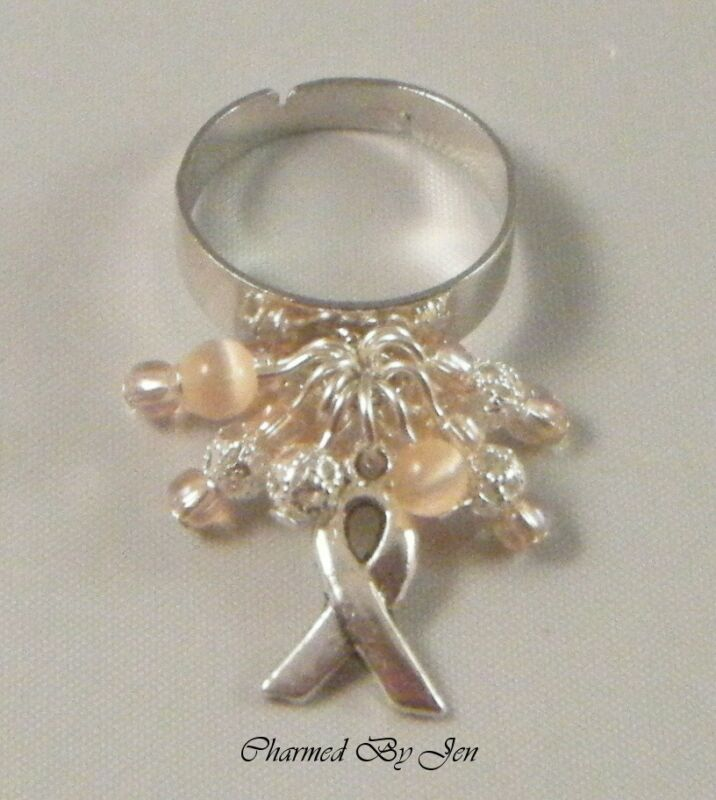 UTERINE CANCER Awareness CHA CHA Adjustable RING New