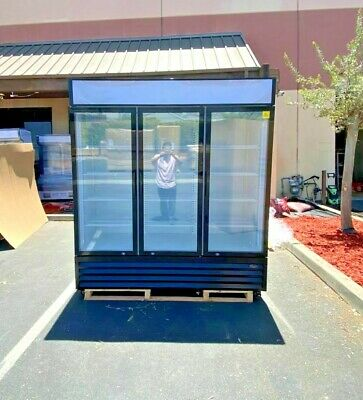 New Commercial 3 Glass Door Upright Refrigerator Large Display Cooler Nsf Etl
