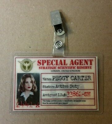 Agent Carter ID Badge -SSR Special Agent Peggy Carter cosplay prop costume photo - Special Agent Costume