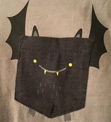 Cat Halloween Outfit (Cat & Jack Boy's 4T, 5T Bat L/S T-Shirt Fleece Jogger Pant Set Halloween)
