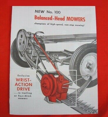 Ih Farmall Mccormick No. 100 Trailer Fast Hitch Sickle Mowers Sales Brochure