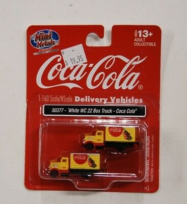 N Scale Mini Metals 50377* White WC 22 Box Truck, Coca Cola (pkg. 2) for sale  Tacoma