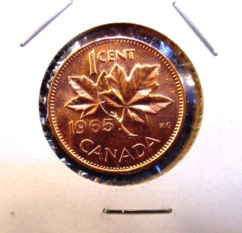 1965  Canada  Canadian Small  Cents  one cent  Penny Coin  BU Combined  Shipping
