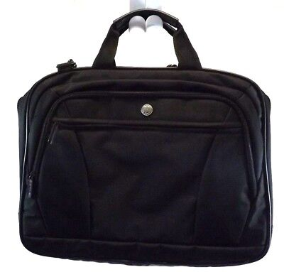NWOT TARGUS Attache BRIEFCASE LAPTOP MESSENGER CROSSBODY BLACK NYLON PADDED  for sale  Shipping to India