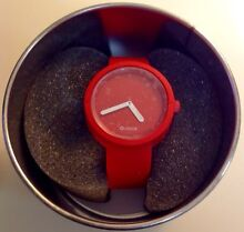O Clock red 'original collection' watch Pyrmont Inner Sydney Preview