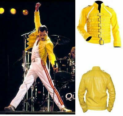 Freddie Mercury Wembley Rock Star Men's Freddy Fancy Dress Outfit Belted - Freddie Wembley Kostüm