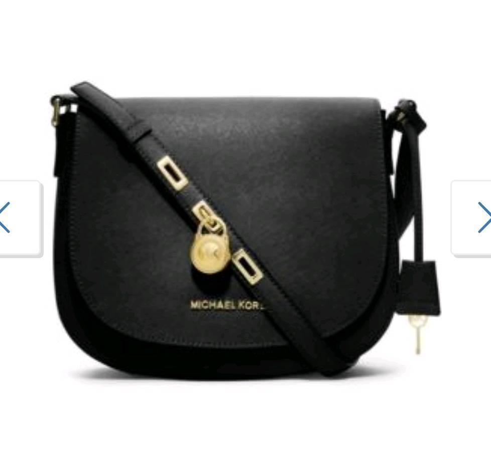 New Michael Kors black saddle messenger bag  cb6d338ec