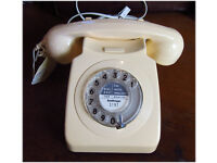 AUTHENTIC GPO ISSUE 1970s COLLECTABLE TELEPHONE, RESTORED & READY TO PLUG & GO! vintage old