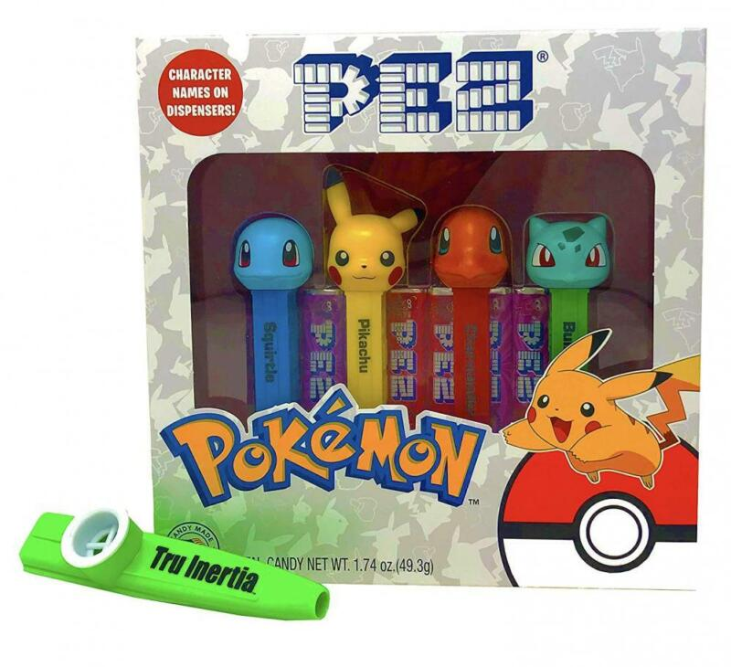 Pez Pokemon Candy and Dispensers Gift Set with Tru Inertia Kazoo – Pikachu,...