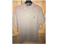 Ralph Lauren grey polo shirt small