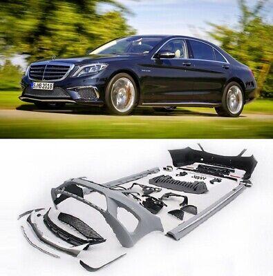 Paket Optik AMG Mercedes S Classe W222 Umbau Stoßstange S65 Vorne Heck Bodykit