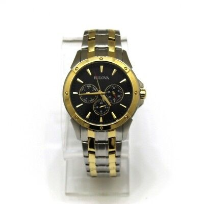 Men`s Bulova 98C120 Classic Dial Two-Tone Watch.Pre-owned.