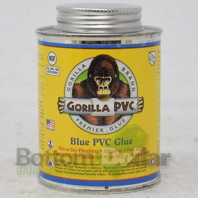 Gorilla Pvc Wet Dry Plumbing Quick Set Low Voc Blue Pvc Glue 8 Fl Oz Exp 221