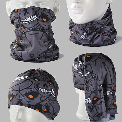 BUY 2 GET 1 FREE! Skull Zombie A044 Seamless Headscarves Bandana Scarf Mask