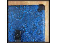 Electric Blue Snakeskin Tolex Amp Speaker Cab Guitar