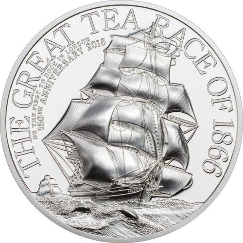 The Great Tea Race 2oz Silver Proof Coin Smart Mint Mintage 999