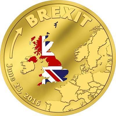 Cook Islands 2016  20 Brexit Bgm 1 10 Oz Gold 999 Proof Coin