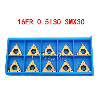20pcs High Quality 16er 0.5iso Smx30 Carbide Inserts Threading Inserts For Steel