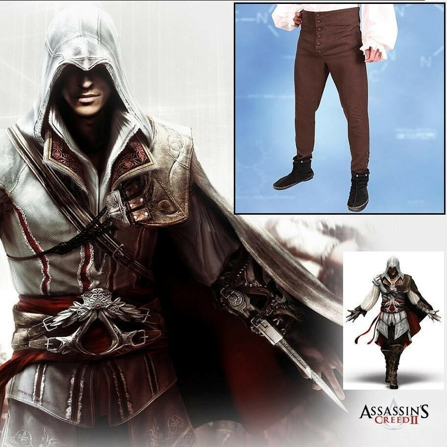 Ezio Pants Trousers Official Assassins Creed Ii Costume Game