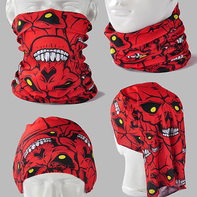 BUY 2 GET 1 FREE! Skull Zombie A046 Seamless Headscarves Bandana Scarf Mask