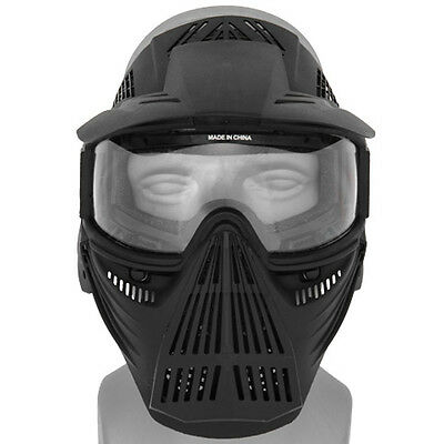 Halo Full Face Paintball Mask Airsoft Tactical Lens Gear Neck Guard No Fog SWAT for sale  Oceanside