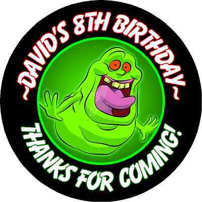 SLIMER GHOSTBUSTERS BIRTHDAY ROUND PARTY STICKERS FAVORS LABELS ~ VARIOUS - Ghostbusters Birthday Party
