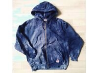 100% original vintage LEVI's hoodie, man size S, in dip dye cobolt blue. Rare and awesome!