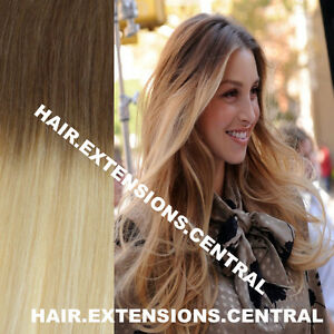 Brown To Blonde Ombre Clip In Hair Extensions 50