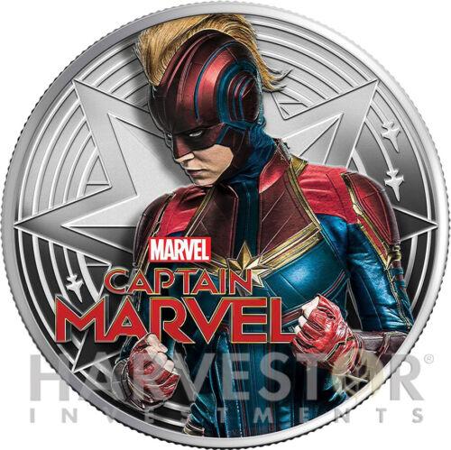 2019 MARVEL - CAPTAIN MARVEL - 1 OZ. SILVER COIN - WITH OGP/COA - MINTAGE 1,500