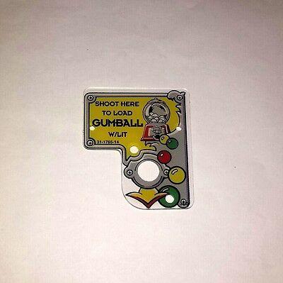 Bally Twilight Zone Pinball Machine Gumball Sign Plastic 31-1765-14 FreeShip New