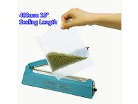 "New Large 400mm 16"" Impulse Heat Sealer PE PP Plastic Bag Film Sealing Machine Food Storage"