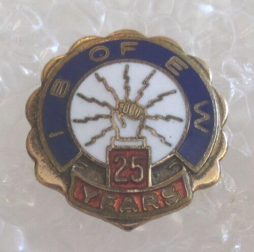 Vintage International Brotherhood of Electrical Workers 25 Year Member Pin-IBEW