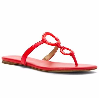 MICHAEL KORS CLAUDIA FLAT SANDAL CORAL REEF WOMENS FLAT T STRAP SHOES MULTISIZES Womens Coral Reef
