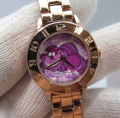 "CHESHIRE CAT,Massimo,""Rose Gold Lady's/Girls CHARACTER WATCH,New In Box,R18-51"