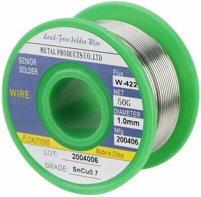 Lead Free Solder Wire Sn99.3 Cu0.7 With Rosin Core For Electronic 1.76oz 1.0mm