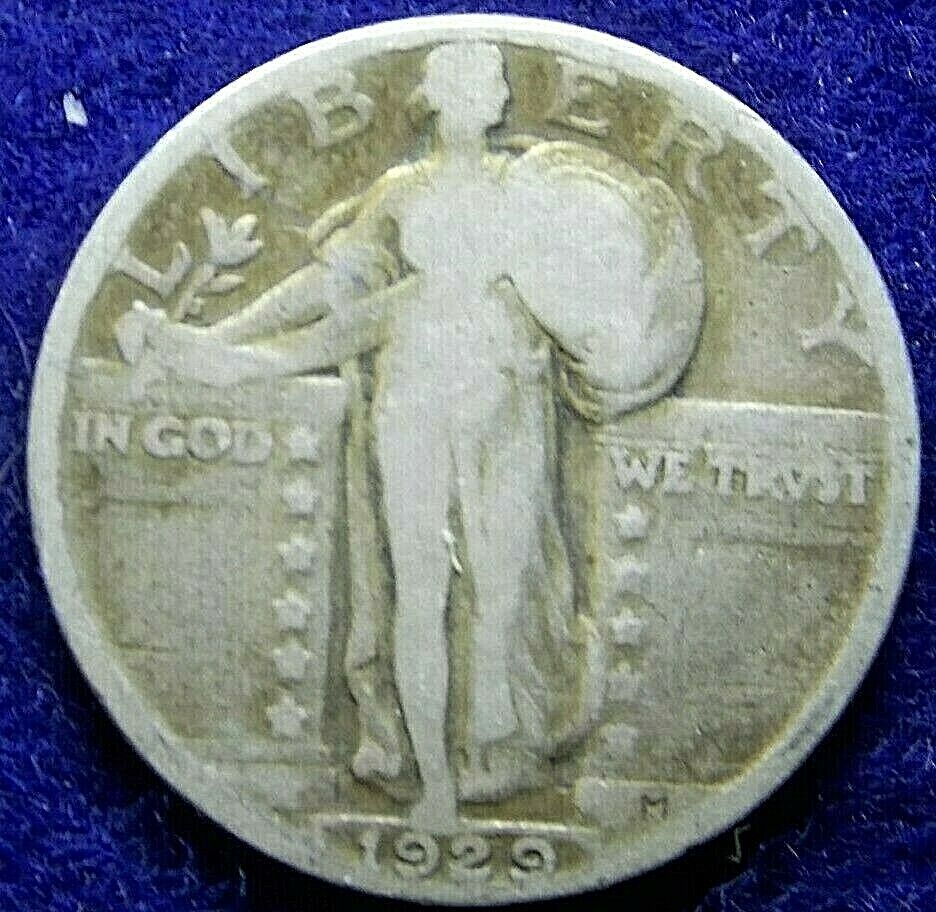 1929 Standing Liberty Quarter US Coin 90 Silver. J078 - $10.00