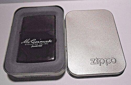 ZIPPO 2002 I-02 McCORMICK DISTILLING CO. BLACK ICE CIGARETTE LIGHTER WITH TIN
