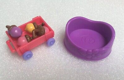 Littlest Pet Shop LPS Magic Motion Tree House Replacement Pieces Wagon Acorn Bed