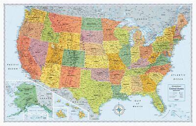 Rand McNally US Signature Edition Political Wall Map
