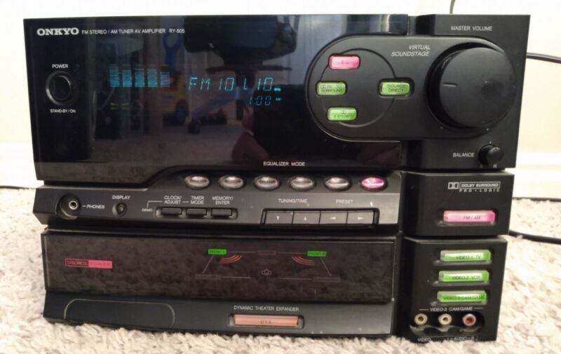 VTG ONKYO RY-505 AM/FM AV Compact Receiver with Remote