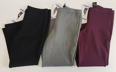 Max & Mia Women's Capri Crop Dress Pull-On Ponte Pants -