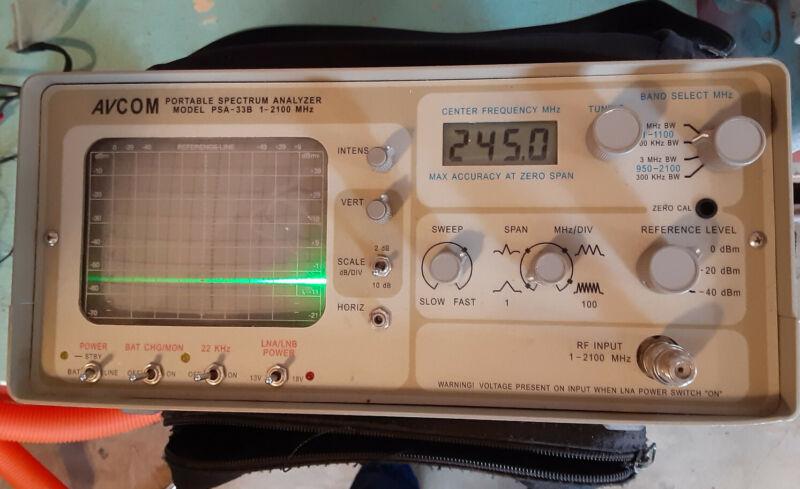 Avcom PSA-33A spectrum analyzer