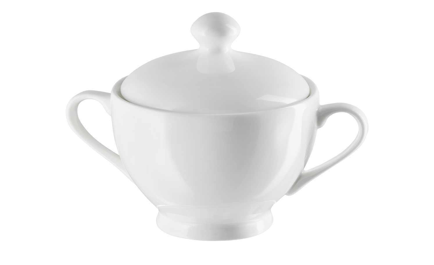 Zuckerdose Porzellan Weiß Mit Deckel 10 x 11 cm PeillPutzler Deckeldose