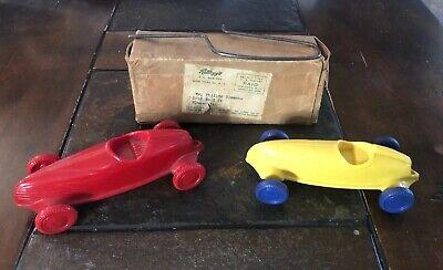 Vintage 1940s Kelloggs Elmar race cars (2) W/ Original Box.