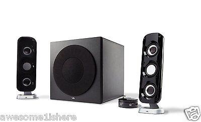Satellite Speaker System Subwoofer Music TV/DVD/MP3 2.1 Sound Media Player Audio
