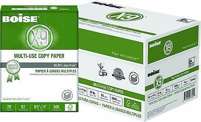Boise X-9 Multi-use Copy Paper Letter Size 20 Lb Bright White Case Of 10 Reams