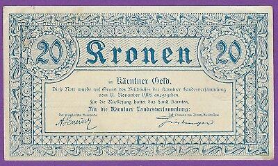 Austria - 20 Kronen - Landes Kasse - Kaernten - 11.11.1918