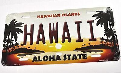 USA Auto Nummernschild License Plate Deko Blechschild Hawaii