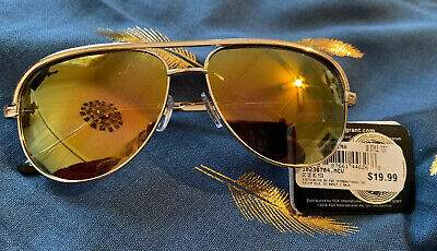 Foster Grant Sunglasses Dolly Gold Mirrored Lens Aviator Style