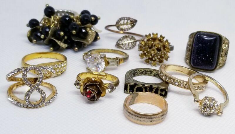 Goldtone - Ring Lot Costume Vintage